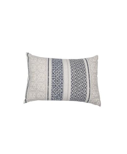 David Fussenegger David Fussenegger sierkussenhoes Silvretta 'small pattern bordure' 40x60 grey