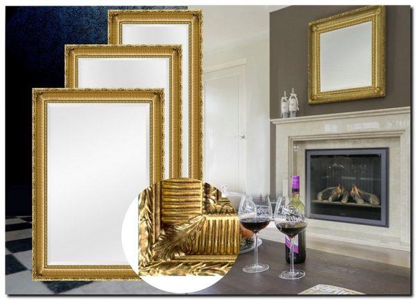 Franse Baroque spiegel Mauro Goud