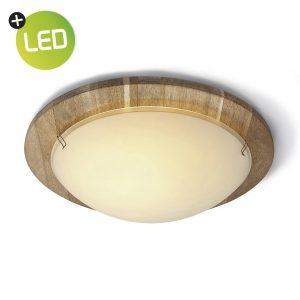Home sweet home LED plafondlamp Drift - donkerbruin