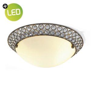 Home sweet home LED plafondlamp Glass Ø 30 cm - bruin