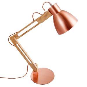 Home sweet home bureaulamp Wood ↕ 70 cm - koper