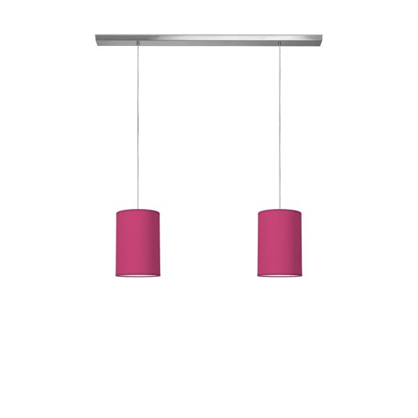 Home sweet home hanglamp beam 2 tube Ø 20 cm - roze
