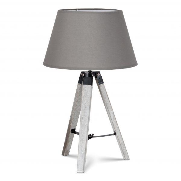 Home sweet home tafellamp Dia wit met lampenkap Largo - grijs