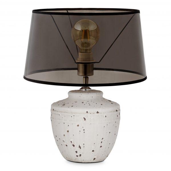 Home sweet home tafellamp Lina - beton / keramiek met lampenkap Smoke - smoke