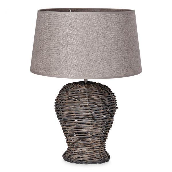 Home sweet home tafellamp Roseau - met lampenkap Melrose - grijs