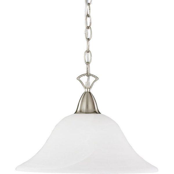LED Hanglamp - Hangverlichting - Trion Cilona - E27 Fitting - Rond - Mat Nikkel - Aluminium
