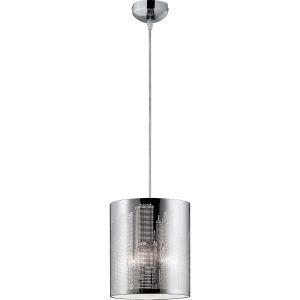 LED Hanglamp - Hangverlichting - Trion Cotin - E27 Fitting - Rond - Mat Chroom - Aluminium