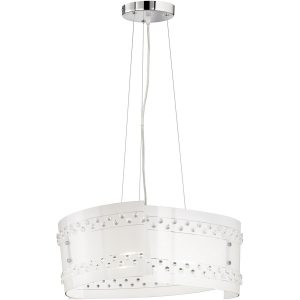 LED Hanglamp - Hangverlichting - Trion Crasto - E27 Fitting - Rond - Mat Wit - Glas