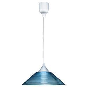 LED Hanglamp - Hangverlichting - Trion Dikon - E27 Fitting - Rond - Aluminium Blauw - Kunststof