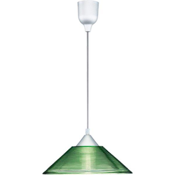LED Hanglamp - Hangverlichting - Trion Dikon - E27 Fitting - Rond - Aluminium Groen - Kunststof