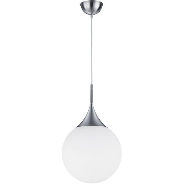 LED Hanglamp - Hangverlichting - Trion Midon - E27 Fitting - Rond - Mat Nikkel - Aluminium
