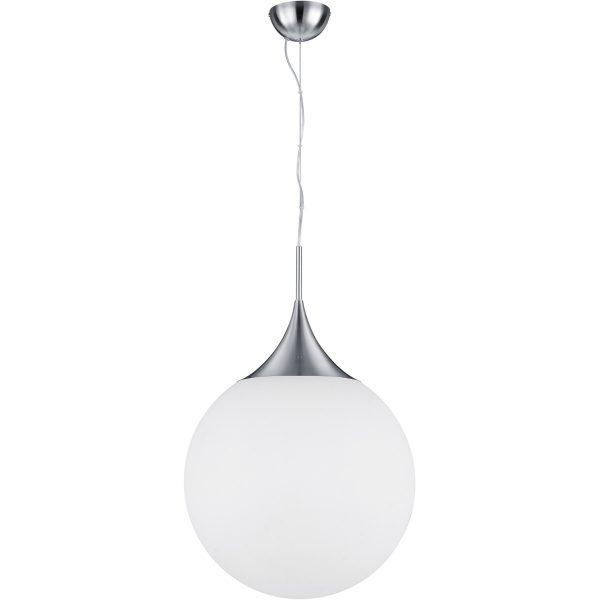 LED Hanglamp - Hangverlichting - Trion Midon XL - E27 Fitting - Rond - Mat Nikkel - Aluminium