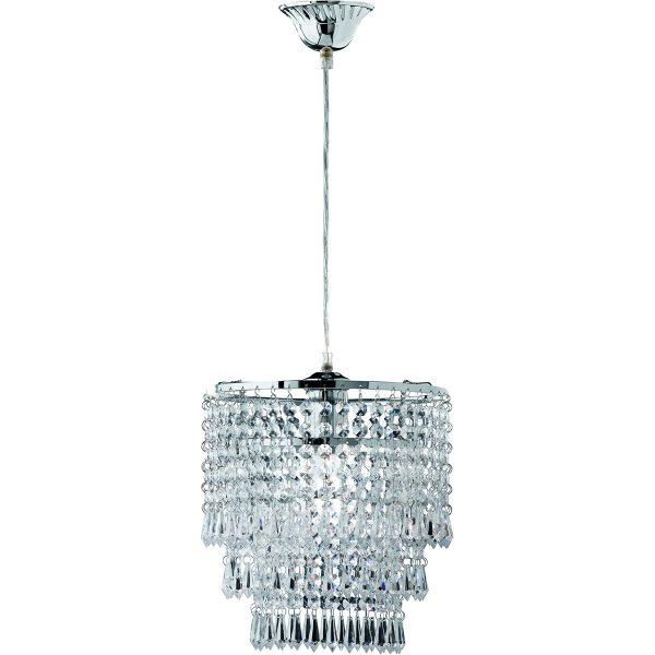 LED Hanglamp - Hangverlichting - Trion Oranta - E27 Fitting - 1-lichts - Rond - Mat Chroom - Aluminium