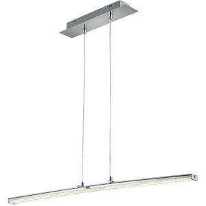 LED Hanglamp - Hangverlichting - Trion Stilo - 16W - Natuurlijk Wit 4000K - Rechthoek - Mat Chroom - Aluminium