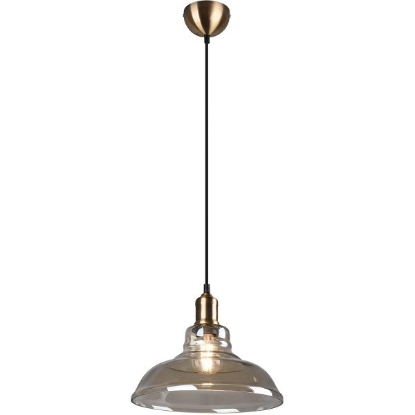 LED Hanglamp - Trion Aldin - E27 Fitting - Rond - Oud Brons - Aluminium