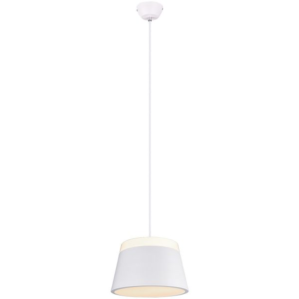 LED Hanglamp - Trion Barnaness - E27 Fitting - 2-lichts - Rond - Mat Wit - Aluminium
