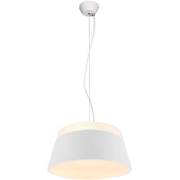 LED Hanglamp - Trion Barnaness - E27 Fitting - 3-lichts - Rond - Mat Wit - Aluminium
