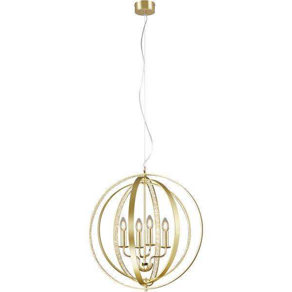 LED Hanglamp - Trion Carzola - E14 Fitting - Rond - Mat Goud - Aluminium