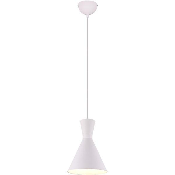 LED Hanglamp - Trion Enzi - E27 Fitting - Rond - Mat Wit - Aluminium