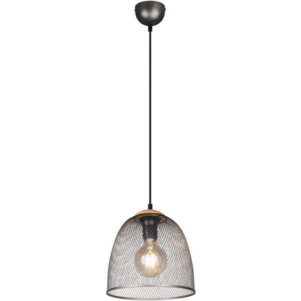 LED Hanglamp - Trion Ivan - E27 Fitting - 1-lichts - Rond - Antiek Nikkel - Aluminium