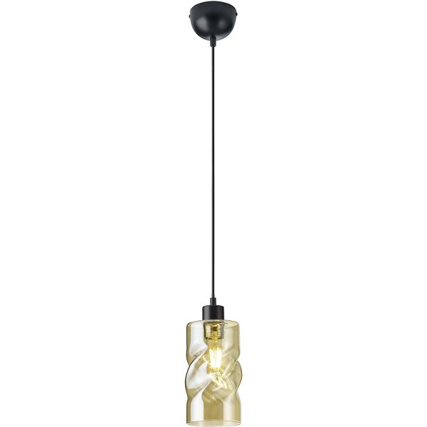 LED Hanglamp - Trion Swily - E27 Fitting - 1-lichts - Rond - Amber - Aluminium
