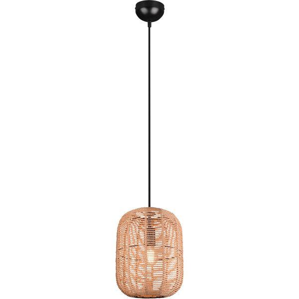 LED Hanglamp - Trion Tuna - E27 Fitting - 1-lichts - Rond - Mat Zwart - Aluminium