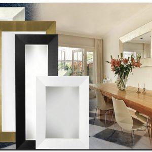 Moderne spiegel Romano met strakke zeer brede lijst