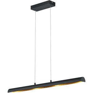 OSRAM - LED Hanglamp - Hangverlichting - Trion Remco - 16W - Warm Wit 3000K - Dimbaar - Rechthoek - Mat Zwart - Aluminium