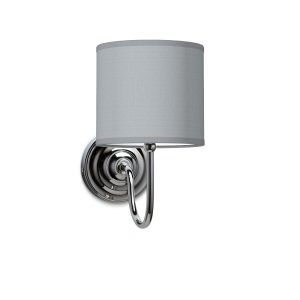 Wandlamp Lilly Bling Ø 16 cm - lichtgrijs