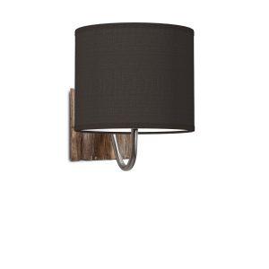 Wandlamp drift bling Ø 20 cm - zwart