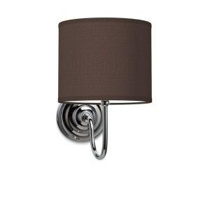Wandlamp lilly bling Ø 20 cm - bruin