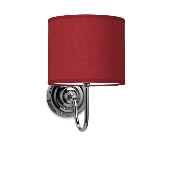 Wandlamp lilly bling Ø 20 cm - rood