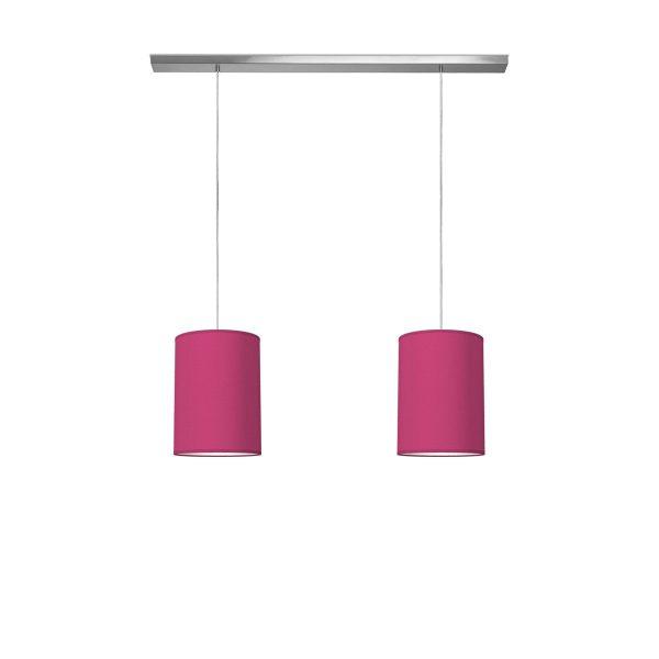 hanglamp beam 2 tube Ø 25 cm - roze