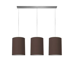 hanglamp beam 3 tube Ø 30 cm - bruin