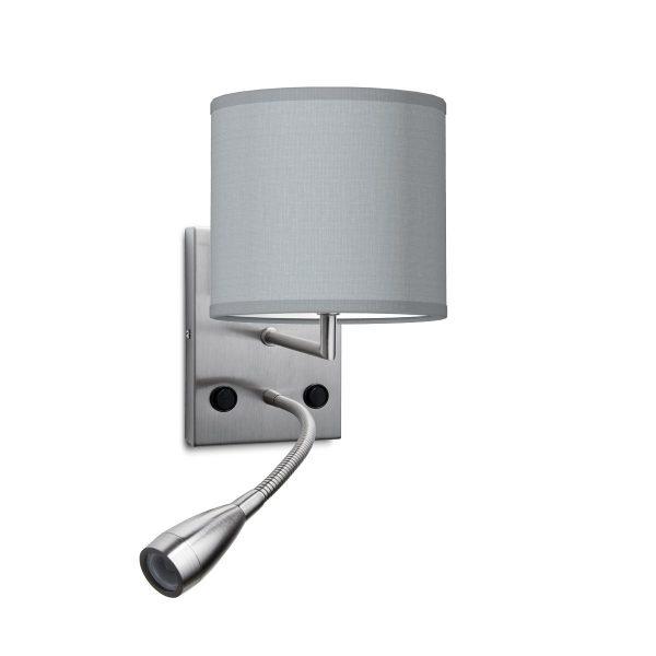 wandlamp Read Bling Ø 16 cm - lichtgrijs