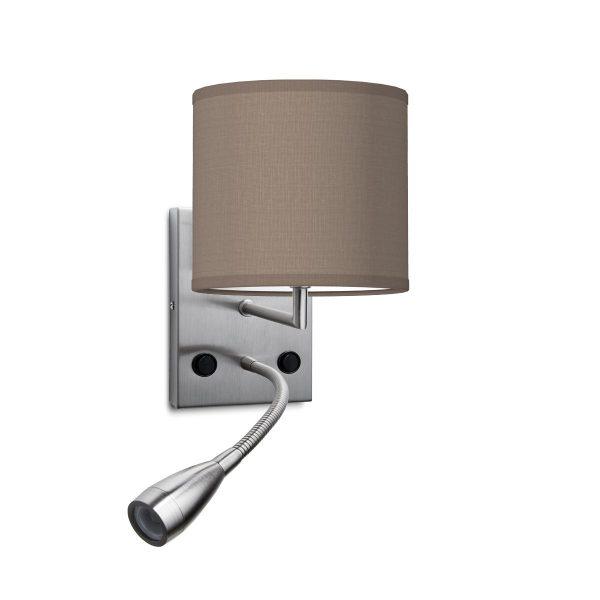 wandlamp read bling Ø 16 cm - taupe