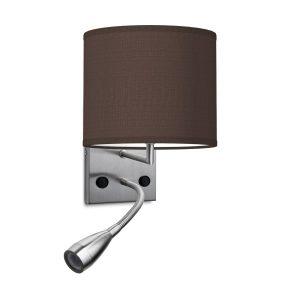 wandlamp read bling Ø 20 cm - bruin