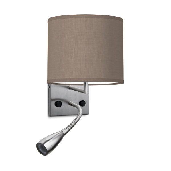 wandlamp read bling Ø 20 cm - taupe
