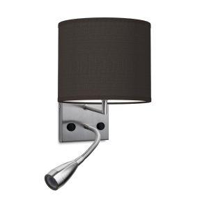 wandlamp read bling Ø 20 cm - zwart