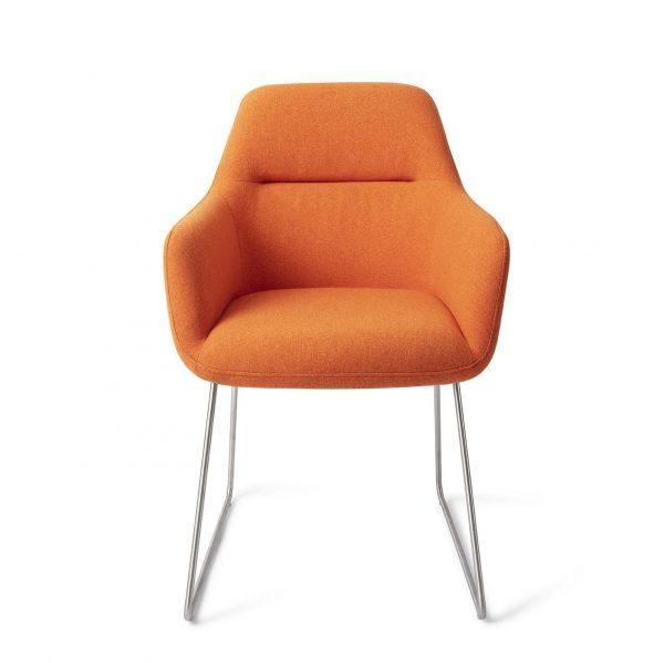 Jesper Home Kinko Eetkamerstoel - Slide Steel Tangerine