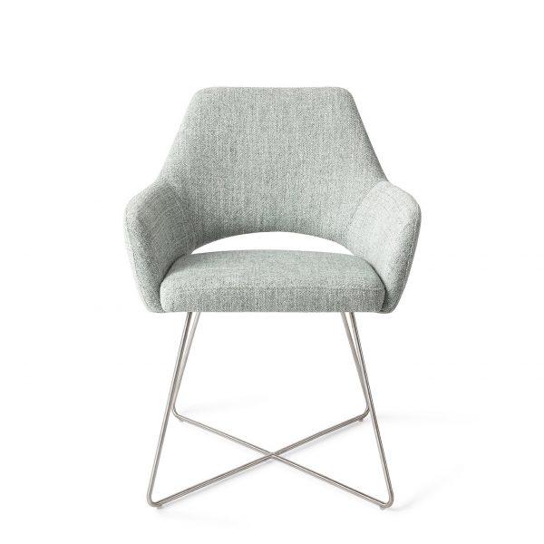 Jesper Home Yanai Eetkamerstoel - Cross steel Soft Sage