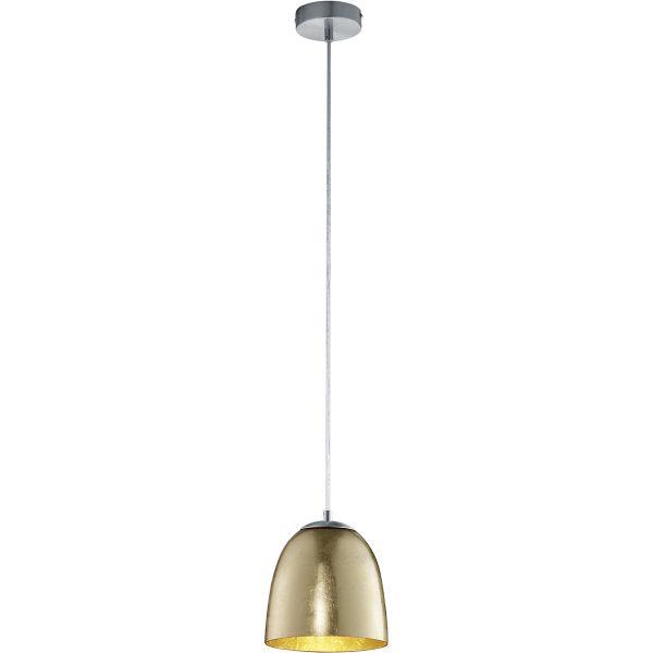 LED Hanglamp - Hangverlichting - Trion Onutia - E14 Fitting - 1-lichts - Ovaal - Mat Goud - Aluminium