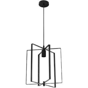 PHILIPS - LED Hanglamp - CorePro Lustre 827 P45 FR - Noby Industrieel - E27 Fitting - 4W - Warm Wit 2700K - Rond - Mat Zwart - Aluminium