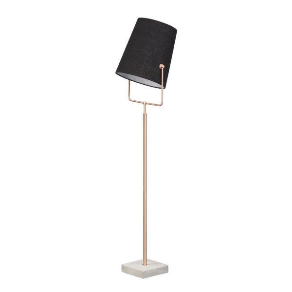 Home sweet home vloerlamp Bird ↕ 175 cm - koper - zwart