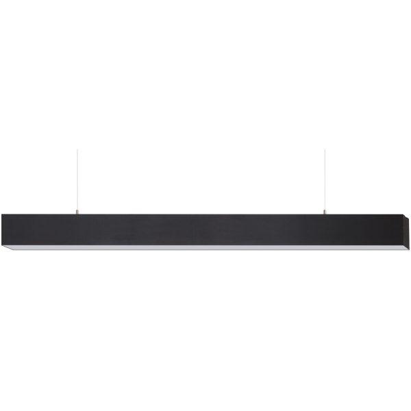 LED Hanglamp - Hangverlichting - Cobalt - 40W - Natuurlijk Wit 4200K - Mat Zwart - Aluminium - 3cm