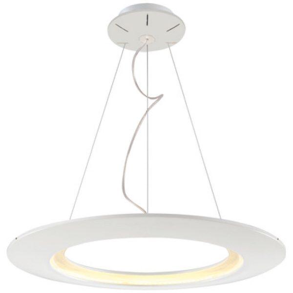 LED Hanglamp - Hangverlichting - Concepty - 41W - Natuurlijk Wit 4000K - Wit Aluminium
