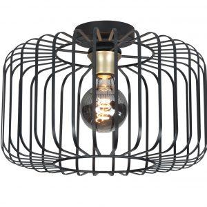Highlight Plafondlamp Lucca 40 cm- Zwart