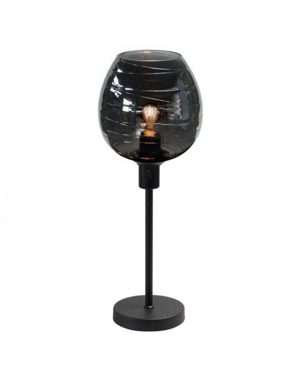 Highlight Tafellamp Fantasy Apple - Zwart / Smoke - Exclusief glas!
