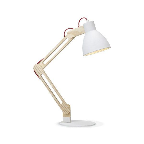 Home sweet home bureaulamp Wood ↕ 70 cm - wit