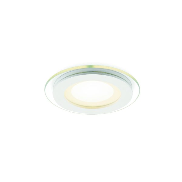 Home sweet home inbouwspot LED Glass 10 rond - wit / glas